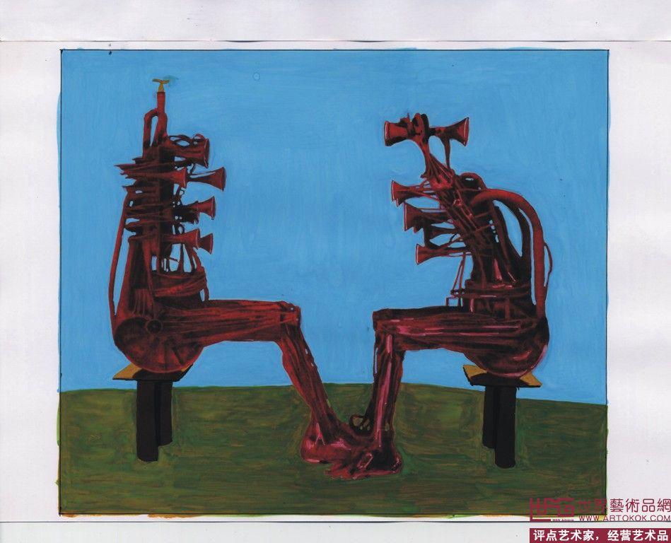 名家 管俊 油画 - 水彩水粉画-公园儿童游乐场雕塑